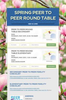 Spring Peer to Peer Round Table