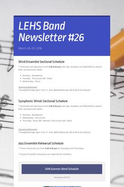 LEHS Band Newsletter #26