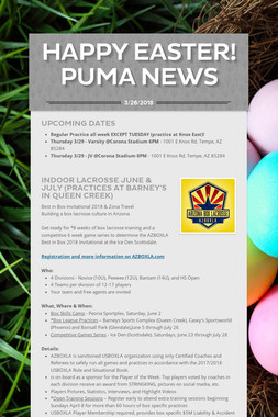 HAPPY EASTER! PUMA NEWS