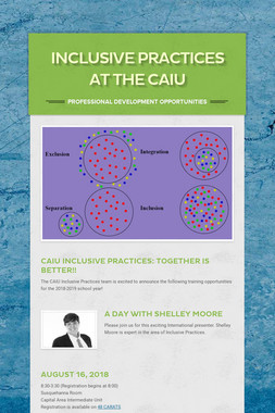 Inclusive Practices at the CAIU