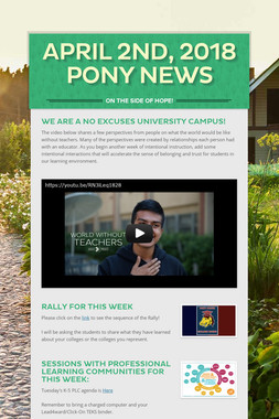 April 2nd, 2018 Pony News