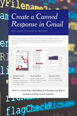 Create a Canned Response in Gmail