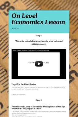 On Level Economics Lesson