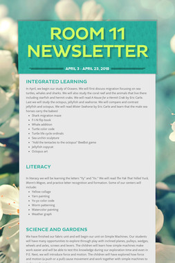 Room 11 Newsletter