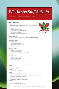 Winchester Staff Bulletin