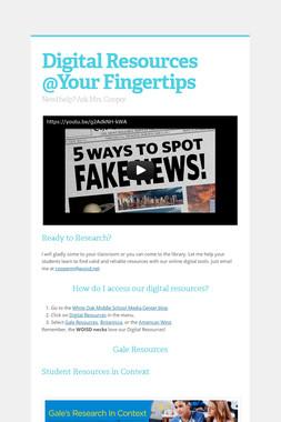 Digital Resources @Your Fingertips