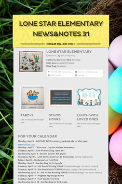 Lone Star Elementary News&Notes 31