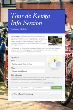 Tour de Keuka Info Session