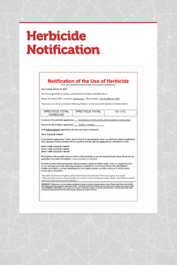 Herbicide Notification