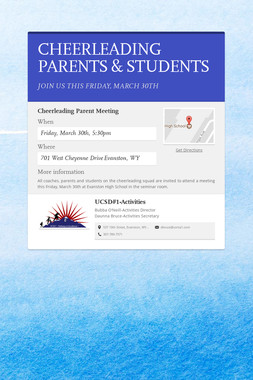 CHEERLEADING PARENTS & STUDENTS