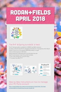 Rodan+Fields APRIL 2018