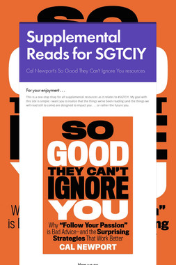 Supplemental Reads for SGTCIY