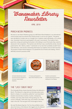 Wanamaker Library Newsletter