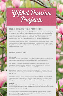Gifted Passion Projects
