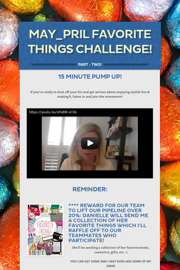 MAY_PRIL FAVORITE THINGS CHALLENGE!