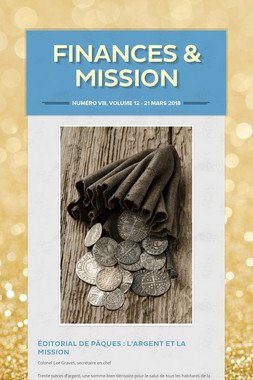 Finances & Mission