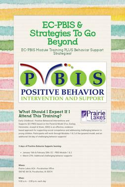 EC-PBIS & Strategies To Go Beyond