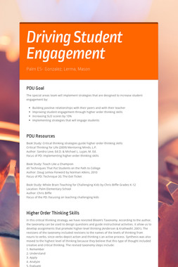 Driving Student Engagement