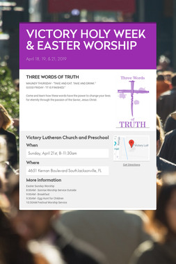 VICTORY HOLY WEEK & EASTER WORSHIP
