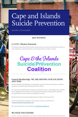 Cape and Islands Suicide Prevention