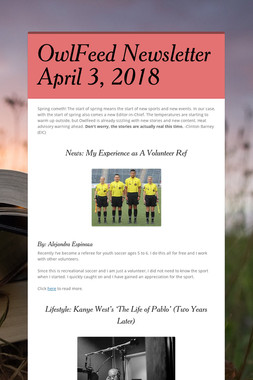 OwlFeed Newsletter April 3, 2018