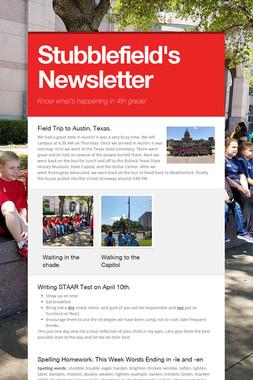 Stubblefield's Newsletter