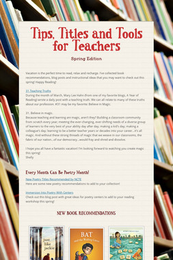 Tips, Titles and Tools for Teachers