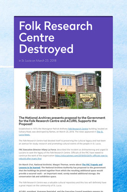 Folk Research Centre Destroyed