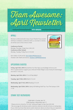 Team Awesome: April Newsletter