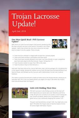 Trojan Lacrosse Update!