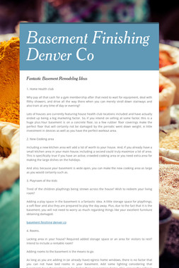 Basement Finishing Denver Co