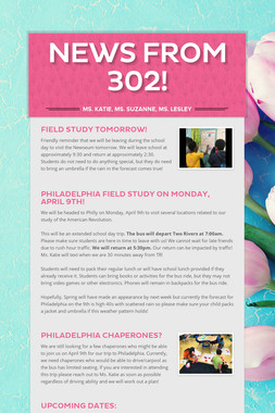 News from 302!