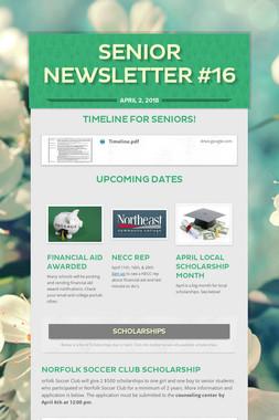 Senior Newsletter #16