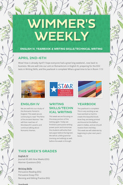 Wimmer's Weekly