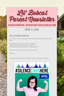 Lil' Bobcat Parent Newsletter