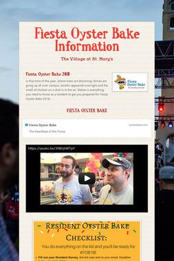Fiesta Oyster Bake Information