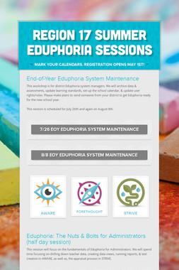 Region 17 Summer Eduphoria Sessions