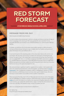 Red Storm Forecast