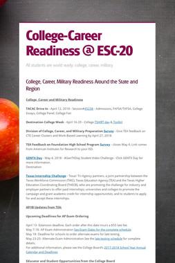 College-Career Readiness @ ESC-20
