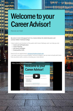 Welcome to your Career Advisor!