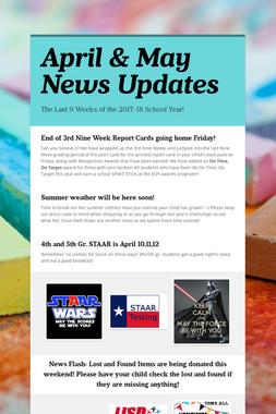 April & May News Updates