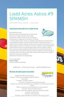Ladd Acres Astros #9 SPANISH