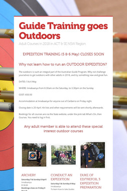 Guide Training goes Outdoors