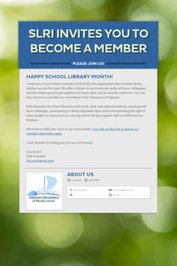 SLRI Invites You to Become a Member