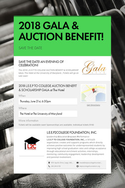 2018 GALA & AUCTION BENEFIT!