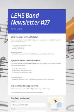 LEHS Band Newsletter #27