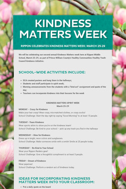 KINDNESS Matters WEEK
