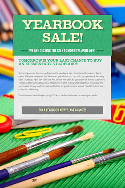 Yearbook Sale!