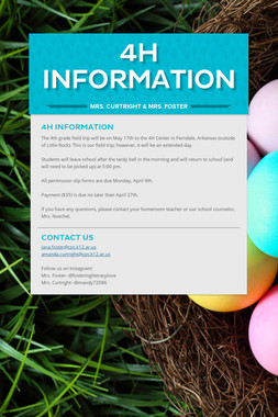 4H Information