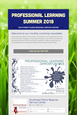 Professional Learning Summer 2018